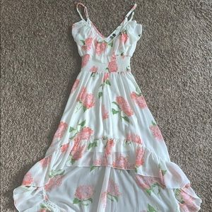 Floral High/Low Floaty Dress
